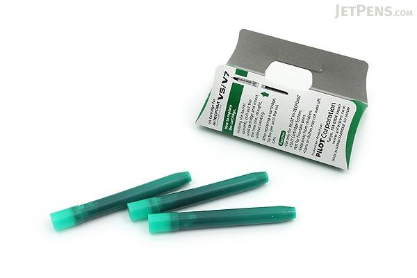 Pilot V5/V7 Hi-Tecpoint Ink Refill - Green - 3 Cartridges - PILOT BXS-IC-G-S3