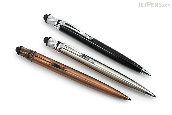 Retro 51 Tornado Touch Ballpoint Pen + Stylus - Stainless - RETRO 51 ASBP-1315