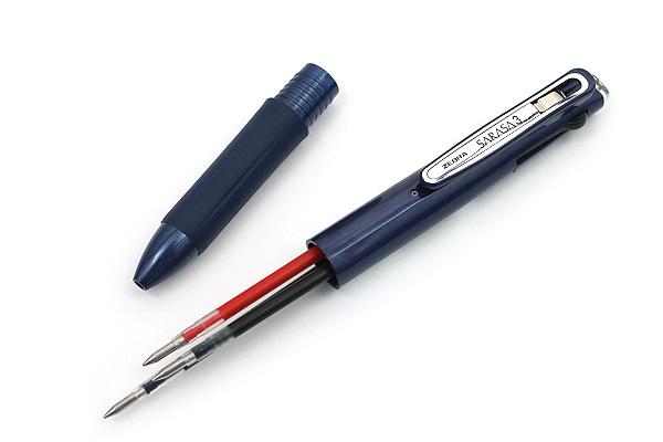 Zebra Sarasa 3 3 Color Gel Ink Multi Pen - 0.5 mm - Navy Body - ZEBRA J3J2-NV