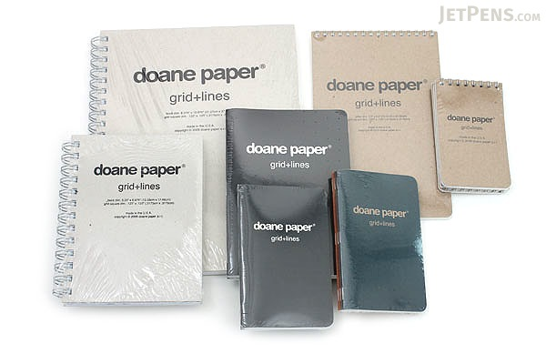 Doane Paper Grid + Lines Utility Notebook - Small - Pack of 3 - DOANE PAPER 009