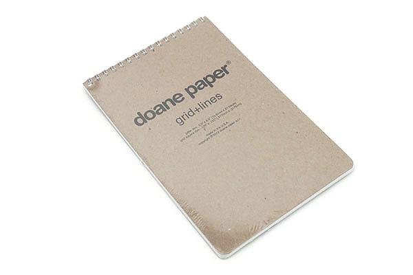 Doane Paper Grid + Lines Flap Jotter Notepad - Large - DOANE PAPER 006