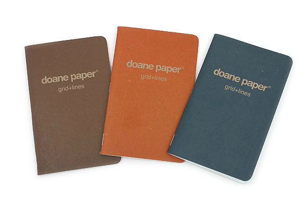 Doane Paper Grid + Lines Utility Notebook - Small - Garage Series - Pack of 3 - DOANE PAPER 010