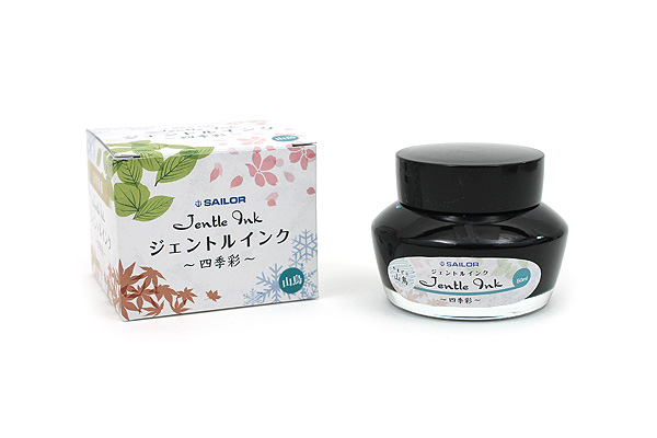 Sailor Fountain Pen Jentle Ink - 50 ml - Four Seasons - Yama-dori (Copper Pheasant - Teal) - SAILOR 13-1005-207