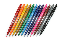 Pentel Fude Touch Sign Pen - 12 Color Bundle - JETPENS PENTEL SES15C BUNDLE