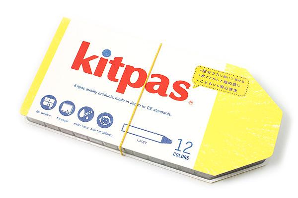 Rikagaku Kitpas Wet-Erase Crayon - Large - 12 Color Set - RIKAGAKU KPL-12C
