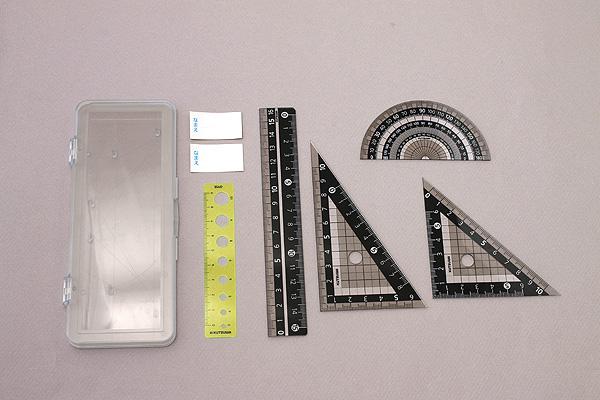 Kutsuwa Stad Ruler Set - Black - KUTSUWA KB031