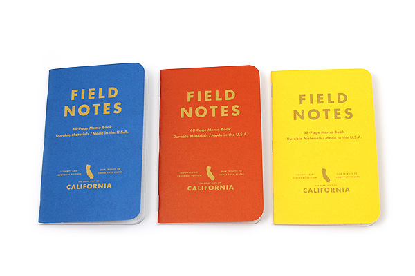 "Field Notes Color Cover Memo Book - County Fair - 3.5"" x 5.5"" - 48 Pages - 5 mm Graph - Pack of 3 - Michigan - FIELD NOTES FN-01A-MI"