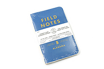 "Field Notes Color Cover Memo Book - County Fair - 3.5"" x 5.5"" - 48 Pages - 5 mm Graph - Pack of 3 - Alabama - FIELD NOTES FN-01A-AL"