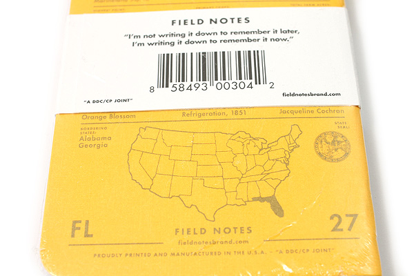 """Field Notes Color Cover Memo Book - County Fair - 3.5"""" x 5.5"""" - 48 Pages - 5 mm Graph - Pack of 3 - Florida - FIELD NOTES FN-01A-FL"""