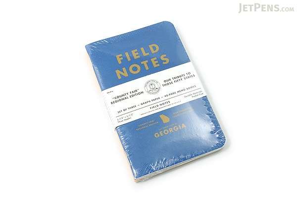 "Field Notes Color Cover Memo Book - County Fair - 3.5"" x 5.5"" - 48 Pages - 5 mm Graph - Pack of 3 - Georgia - FIELD NOTES FN-01A-GA"