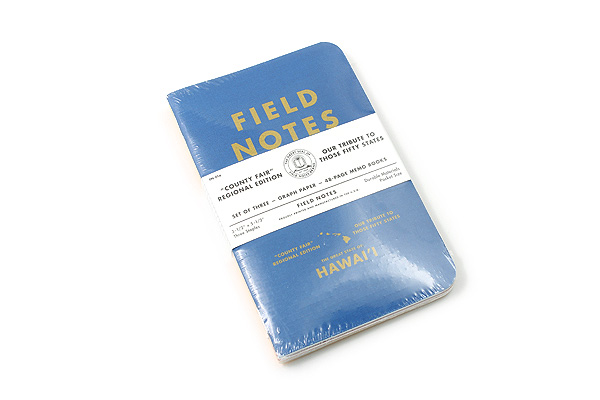 "Field Notes Color Cover Memo Book - County Fair - 3.5"" x 5.5"" - 48 Pages - 5 mm Graph - Pack of 3 - Hawaii - FIELD NOTES FN-01A-HI"
