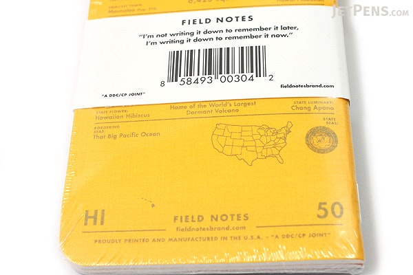 """Field Notes Color Cover Memo Book - County Fair - 3.5"""" x 5.5"""" - 48 Pages - 5 mm Graph - Pack of 3 - Hawaii - FIELD NOTES FN-01A-HI"""