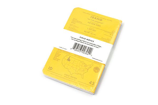 """Field Notes Color Cover Memo Book - County Fair - 3.5"""" x 5.5"""" - 48 Pages - 5 mm Graph - Pack of 3 - Idaho - FIELD NOTES FN-01A-ID"""