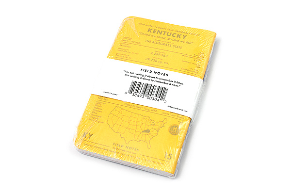 """Field Notes Color Cover Memo Book - County Fair - 3.5"""" x 5.5"""" - 48 Pages - 5 mm Graph - Pack of 3 - Kentucky - FIELD NOTES FN-01A-KY"""