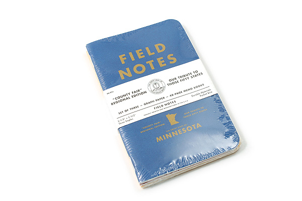 "Field Notes Color Cover Memo Book - County Fair - 3.5"" x 5.5"" - 48 Pages - 5 mm Graph - Pack of 3 - Minnesota - FIELD NOTES FN-01A-MN"