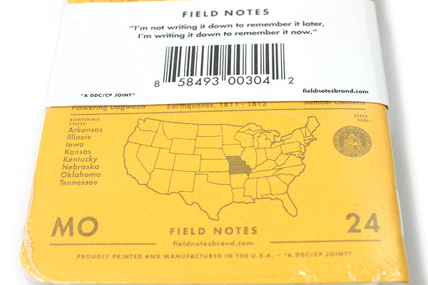 "Field Notes Color Cover Memo Book - County Fair - 3.5"" x 5.5"" - 48 Pages - 5 mm Graph - Pack of 3 - Missouri - FIELD NOTES FN-01A-MO"