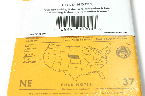 """Field Notes Color Cover Memo Book - County Fair - 3.5"""" x 5.5"""" - 48 Pages - 5 mm Graph - Pack of 3 - Nebraska - FIELD NOTES FN-01A-NE"""