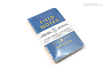 "Field Notes Color Cover Memo Book - County Fair - 3.5"" x 5.5"" - 48 Pages - 5 mm Graph - Pack of 3 - New Mexico - FIELD NOTES FN-01A-NM"