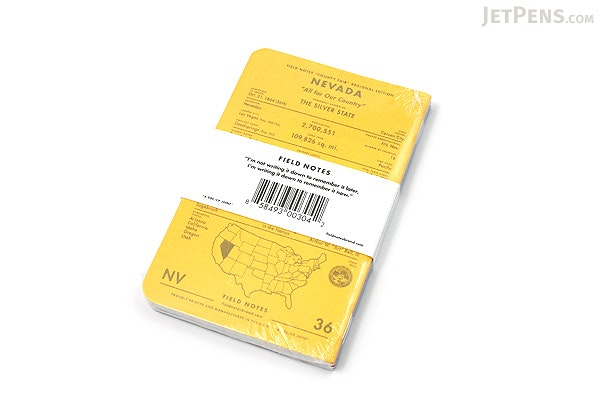 """Field Notes Color Cover Memo Book - County Fair - 3.5"""" x 5.5"""" - 48 Pages - 5 mm Graph - Pack of 3 - Nevada - FIELD NOTES FN-01A-NV"""