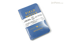 "Field Notes Color Cover Memo Book - County Fair - 3.5"" x 5.5"" - 48 Pages - 5 mm Graph - Pack of 3 - Oklahoma - FIELD NOTES FN-01A-OK"