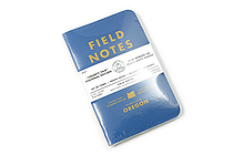 "Field Notes Color Cover Memo Book - County Fair - 3.5"" x 5.5"" - 48 Pages - 5 mm Graph - Pack of 3 - Oregon - FIELD NOTES FN-01A-OR"