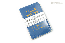 "Field Notes Color Cover Memo Book - County Fair - 3.5"" x 5.5"" - 48 Pages - 5 mm Graph - Pack of 3 - Pennsylvania - FIELD NOTES FN-01A-PA"