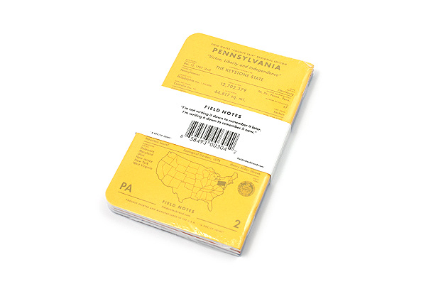 """Field Notes Color Cover Memo Book - County Fair - 3.5"""" x 5.5"""" - 48 Pages - 5 mm Graph - Pack of 3 - Pennsylvania - FIELD NOTES FN-01A-PA"""