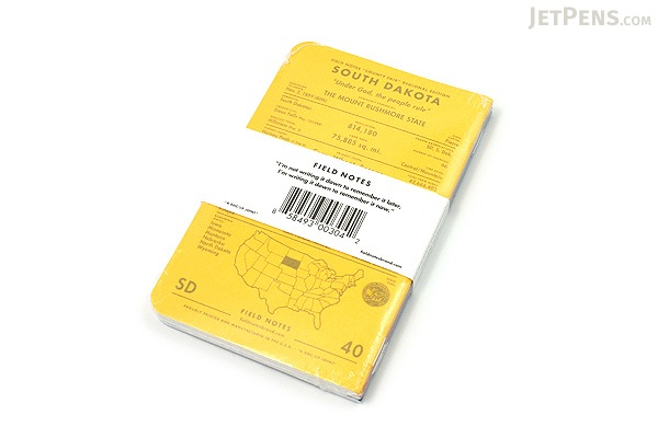 """Field Notes Color Cover Memo Book - County Fair - 3.5"""" x 5.5"""" - 48 Pages - 5 mm Graph - Pack of 3 - South Dakota - FIELD NOTES FN-01A-SD"""