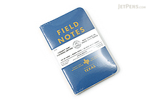 "Field Notes Color Cover Memo Book - County Fair - 3.5"" x 5.5"" - 48 Pages - 5 mm Graph - Pack of 3 - Texas - FIELD NOTES FN-01A-TX"