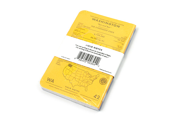 """Field Notes Color Cover Memo Book - County Fair - 3.5"""" x 5.5"""" - 48 Pages - 5 mm Graph - Pack of 3 - Washington - FIELD NOTES FN-01A-WA"""