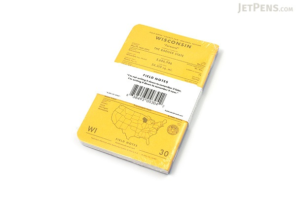 """Field Notes Color Cover Memo Book - County Fair - 3.5"""" x 5.5"""" - 48 Pages - 5 mm Graph - Pack of 3 - Wisconsin - FIELD NOTES FN-01A-WI"""