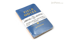 "Field Notes Color Cover Memo Book - County Fair - 3.5"" x 5.5"" - 48 Pages - 5 mm Graph - Pack of 3 - Wyoming - FIELD NOTES FN-01A-WY"