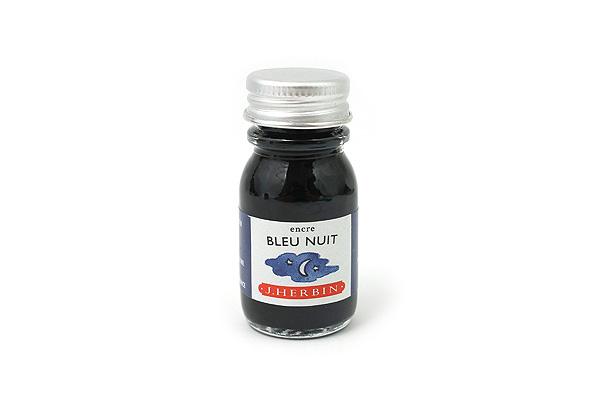 J. Herbin Fountain Pen Ink - 10 ml Bottle - Bleu Nuit (Night Blue) - J. HERBIN H115/19