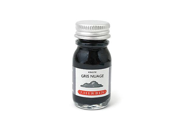 J. Herbin Fountain Pen Ink - 10 ml Bottle - Gris Nuage (Cloud Gray) - J. HERBIN H115/08