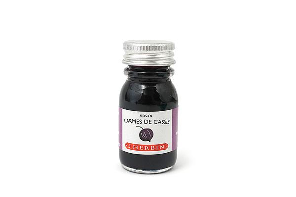 J. Herbin Fountain Pen Ink - 10 ml Bottle - Larmes de Cassis (Tears of Black Currant Purple) - J. HERBIN H115/78