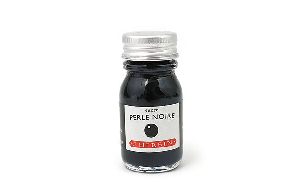 J. Herbin Fountain Pen Ink - 10 ml Bottle - Perle Noire (Pearl Black) - J. HERBIN H115/09