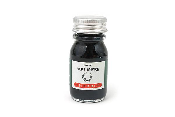 J. Herbin Fountain Pen Ink - 10 ml Bottle - Vert Empire (Empire Green) - J. HERBIN H115/39