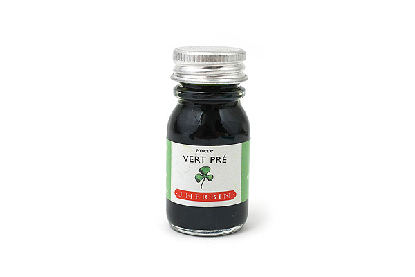 J. Herbin Fountain Pen Ink - 10 ml Bottle - Vert Pré (Meadow Green) - J. HERBIN H115/31