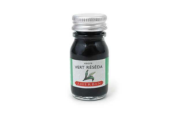 J. Herbin Fountain Pen Ink - 10 ml Bottle - Vert Réséda (Reseda Green) - J. HERBIN H115-38