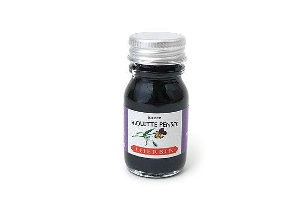 J. Herbin Fountain Pen Ink - 10 ml Bottle - Violette Pensée (Pensive Violet) - J. HERBIN H115/77