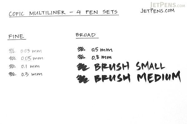 Copic Multiliner Pen - Broad - 4 Pen Set - COPIC MLBBROAD