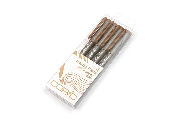 Copic Multiliner Pen - Sepia - 4 Pen Set - COPIC MLSEPIA