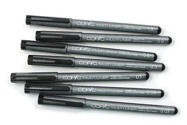 Copic Multiliner Pen A-2 - 7 Pen Set - COPIC MLA2