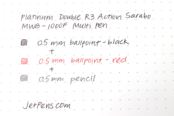 Platinum Double R3 Action Sarabo MWB-1000F 2 Color 0.5 mm Ballpoint Multi Pen + 0.5 mm Pencil - Chartres Blue - PLATINUM MWB-1000F 51