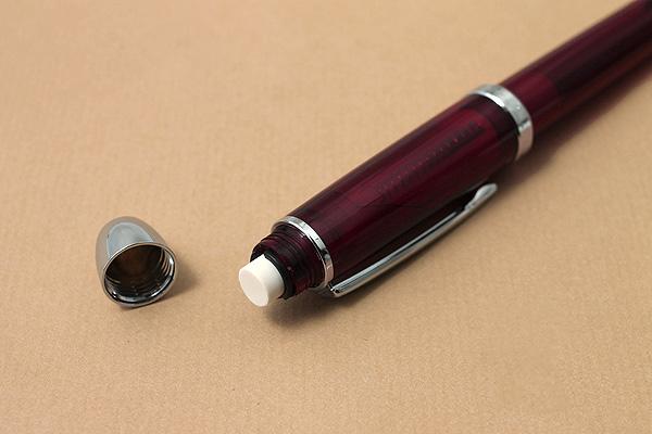 Platinum Double R3 Action Sarabo MWB-1000F 2 Color 0.5 mm Ballpoint Multi Pen + 0.5 mm Pencil - Bourgogne - PLATINUM MWB-1000F 71