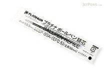 Platinum SBSP-80A Ballpoint Pen Refill - 0.5 mm - Black Ink - PLATINUM SBSP-80A-EF0.5 1