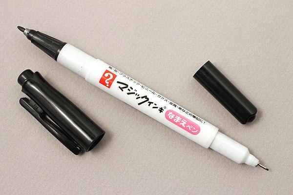 Teranishi Magic Ink Name Marker - Double-Sided - Extra Fine / Fine - Black - TERANISHI MNTP-T1
