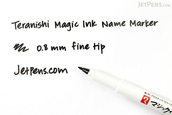 Teranishi Magic Ink Name Marker - Fine - Black - TERANISHI MNHP-T1