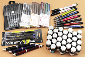 New Products: Pens, Inks, Pencils, and More in a Variety of Shades, Shapes, and Sizes!