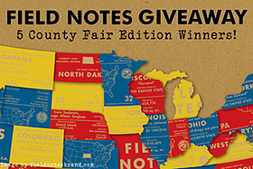 Pen Perks: Field Notes County Fair Edition - 5 Winners!